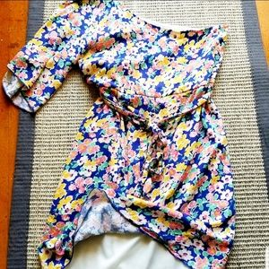 Anthropologie Poema dress bell sleeve dress